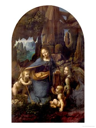 The Virgin of the Rocks (With the Infant St. John Adoring the Infant Christ) circa 1508