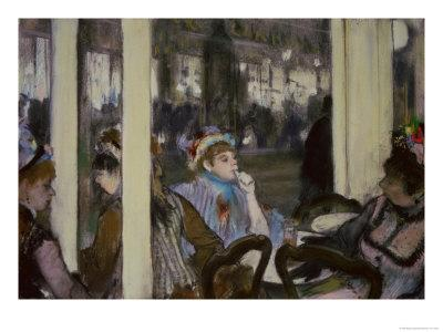 Women on a Cafe Terrace, 1877 (Pastel on Monotype)