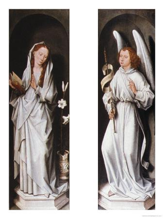 The Annunciation (Two Exterior Panels of a Triptych), circa 1472