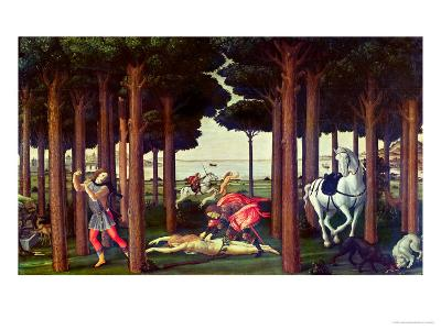 The Story of Nastagio Degli Onesti: the Disembowelment of the Woman Pursued, 1483-87