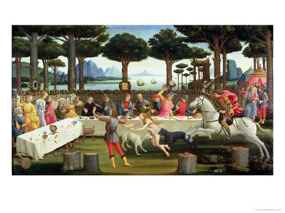 The Story of Nastagio Degli Onesti: Nastagio Arranges a Feast at Which the Ghosts Reappear, 1483-87