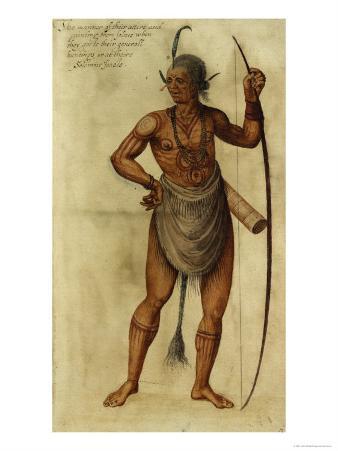 Indian Chief, circa 1585