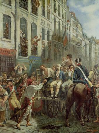 Robespierre (1758-94) and Saint-Just (1767-94) Leaving for the Guillotine, 28th July 1794, 1884