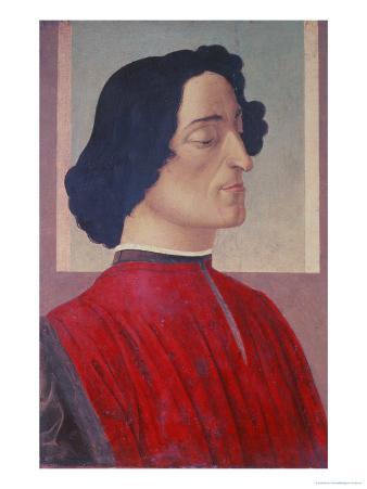 Portrait of Giuliano De' Medici (1478-1534) circa 1480