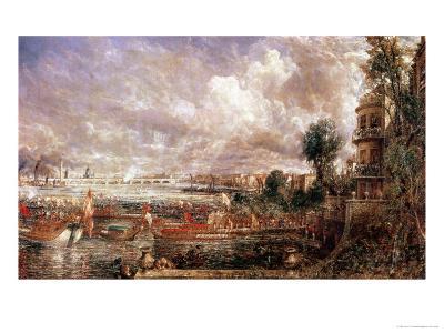 The Opening of Waterloo Bridge, Whitehall Stairs, 18th June 1817