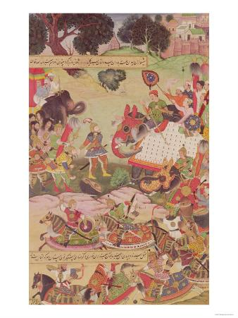 Battle Between the Forces of Persia and Turan from Battle Between the Forces of Persia and Turan