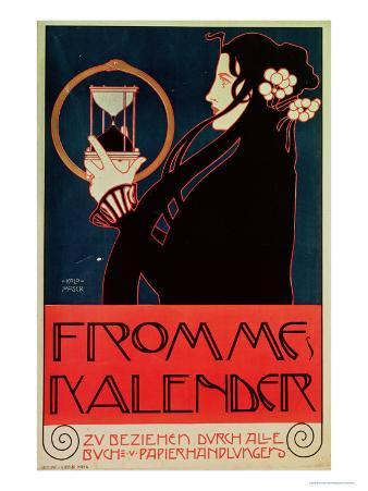 Design for the Frommes Calendar, for the 14th Exhibition of the Vienna Secession, 1902