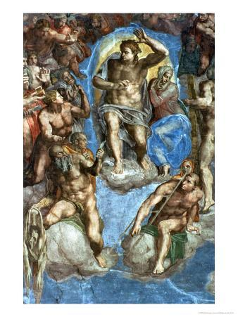 """Christ, Detail from """"The Last Judgement,"""" in the Sistine Chapel, 16th Century"""
