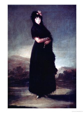 Mariana Waldstein (1763-1808) 9th Marquesa of Santa Cruz, circa 1797-99