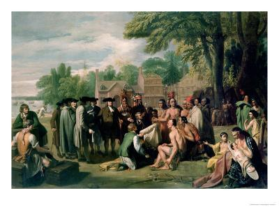 William Penn's Treaty with the Indians in November 1683, Painted 1771-72