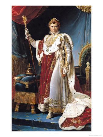 Napoleon I in His Coronation Robe, circa 1804