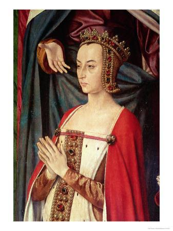 Anne of France, Right Wing of the Bourbon Altarpiece