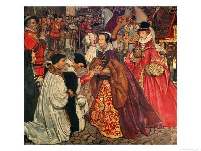 Queen Mary and Princess Elizabeth Entering London, 1553