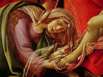 The Lamentation of Christ, Detail of Mary Magdalene and the Feet of Christ, circa 1490