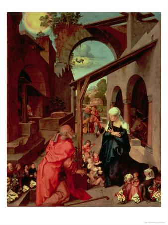Paumgartner Altarpiece: Central Panel, the Nativity and Members of the Paumgartner Family
