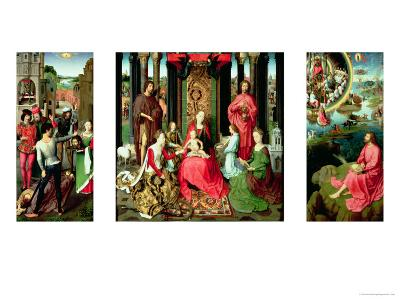 Triptych of St. John the Baptist and St. John the Evangelist, 1474-79