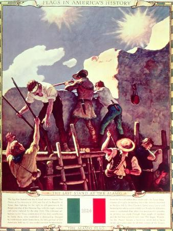 The Last Stand at the Alamo, 6th March 1836 (Illustration)