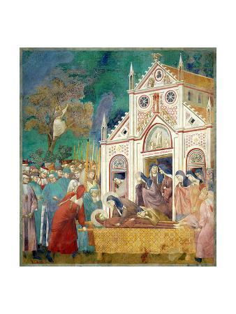 St. Clare Embraces the Body of St. Francis at the Convent of San Damiano, 1297-99