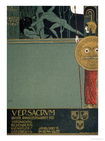 Cover of Ver Sacrum, the Journal of the Viennese Secession, of Theseus and the Minotaur