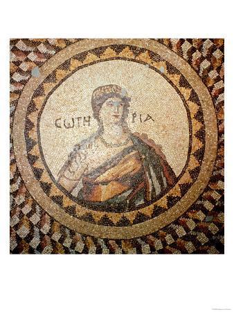 Portrait of a Woman, Roman Mosaic