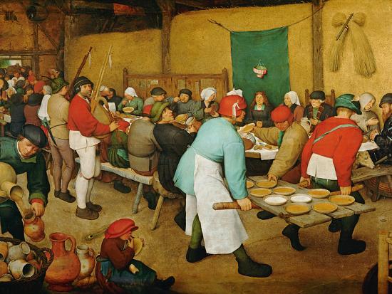 Peasant Wedding Bauernhochzeit 1568 Pieter Bruegel The Elder