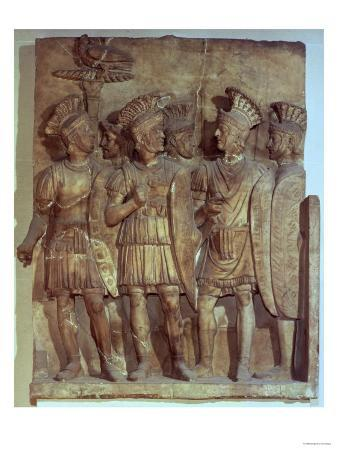 Soldiers of the Praetorian Guard, Relief, Roman, 2nd Century