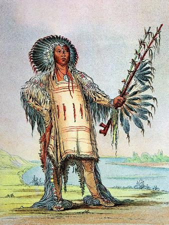 Mandan Indian Ha-Na-Tah-Muah (Wolf Chief)