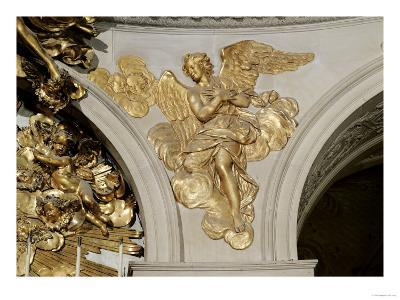 Louis XIV Style Angel, from the Arch to the Right of the High Altar in the Chapel (Gilded Bronze)