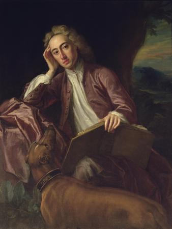 Alexander Pope and His Dog, Bounce, circa 1718