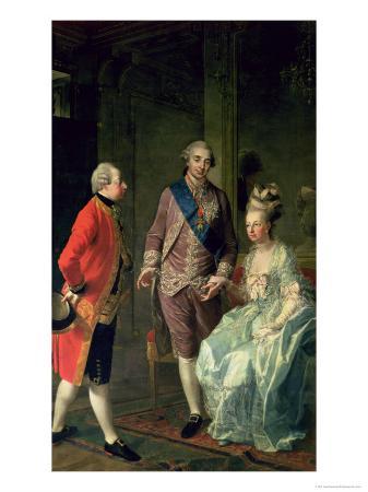 Archduke Maximilian Franz Visiting Marie Antoinette (1755-93) and Louis XVI (1754-93)