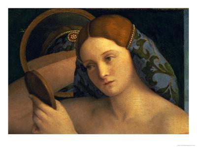 Young Woman at Her Toilet, Detail of the Face, 1515