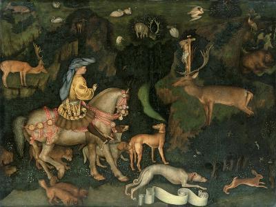 The Vision of Saint Eustace, circa 1438-42 (Egg Tempera on Wood)