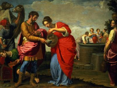 Rebecca and Eliezer at the Well, circa 1626-27