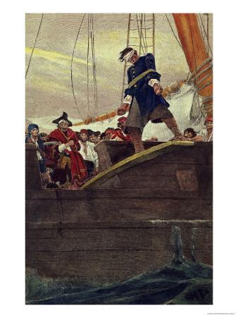 Walking the Plank, Engraved by Anderson