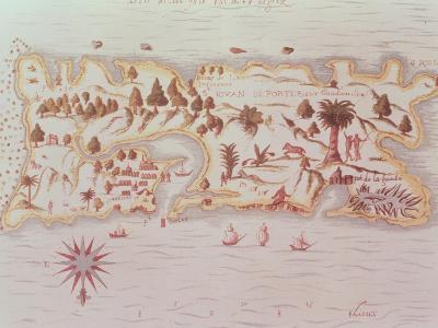 Map of the Island of Puerto Rico, 1599