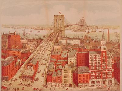 Brooklyn Bridge, circa 1883