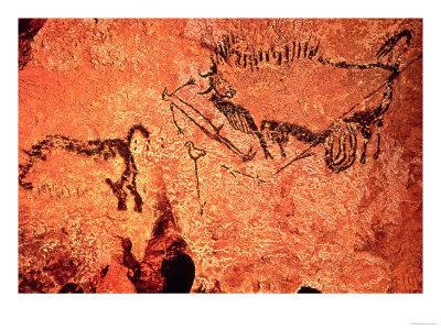 Rock Painting of a Hunting Scene, circa 17000 BC