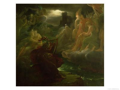 Ossian Conjuring up the Spirits on the Banks of the River Lora with the Sound of His Harp, 1801