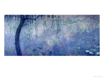 Waterlilies: Two Weeping Willows, Left Section, 1914-18
