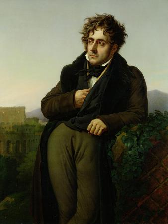 Portrait of Francois Rene (1768-1848) Vicomte De Chateaubriand, 1811