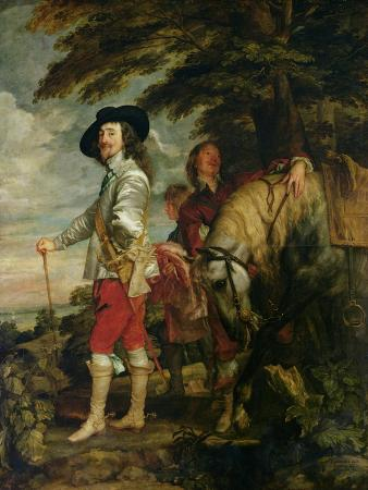 King Charles I (1600-49) of England out Hunting, circa 1635