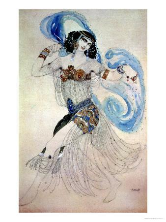 """Costume Design for Salome in """"Dance of the Seven Veils,"""" 1908"""