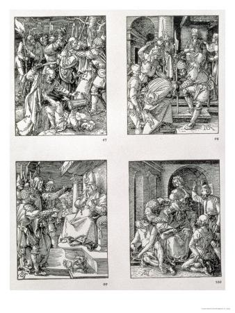 "The ""Small Passion"" Series (Clockwise): the Betrayal of Christ, Christ Before Annas"
