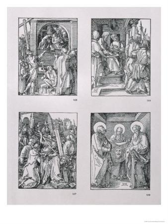 "The ""Small Passion"" Series (Clockwise): Ecce Homo, Pilate Washing His Hands"