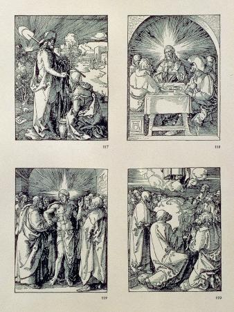 """The """"Small Passion"""" Series: (Clockwise), Christ Appears to the Magdalen as a Gardener"""