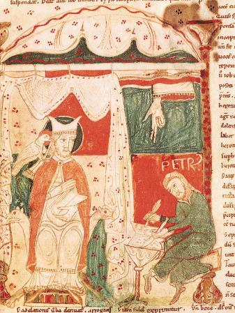 Pope Gregory I the Great (circa 540-604) Dictating the Book of Job to His Scribe Peter