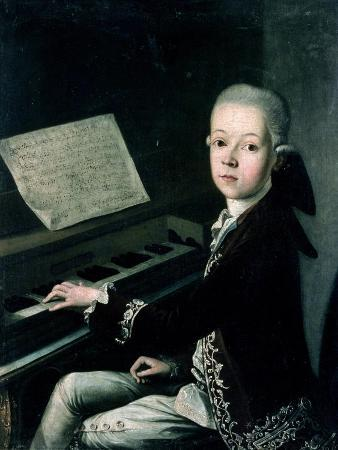 Portrait of Carl Graf Firmian at the Piano, Formerly Thought to be Mozart (1756-91)