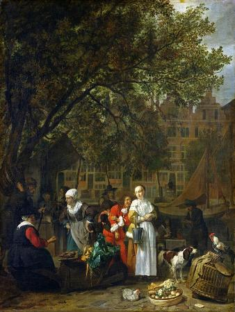 A Herb Market in Amsterdam