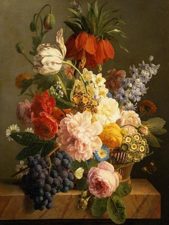Still Life with Flowers and Fruit, 1827