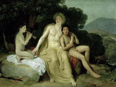 Apollo with Hyacinthus and Cyparissus Singing and Playing, 1831-34